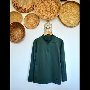 Nike Dri Fit Forrest Green Fitted 3/4 Zip Jacket
